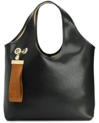 314627ffb3 See By Chloé - Jay Large Logo Tag Leather Tote - Lyst