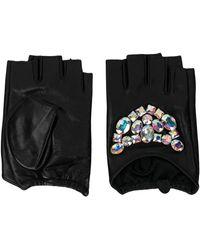 Karl Lagerfeld - Geo Stones Fingerless Gloves - Lyst