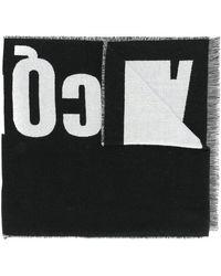 McQ - Logo Knitted Scarf - Lyst