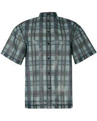 Toga Pulla   Chequered Print Sheer Shirt   Lyst