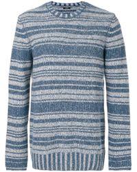 Denham - Striped Knit Jumper - Lyst
