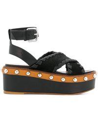 RED Valentino - Tie Around Platform Sandals - Lyst