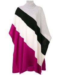 Emilio Pucci - Striped Oversized Knit Poncho - Lyst