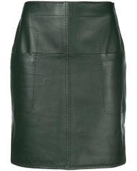 Carven - Short Fitted Skirt - Lyst
