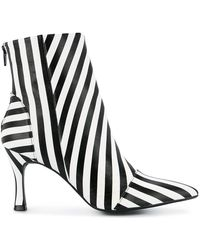 G.v.g.v - Striped Ankle Boots - Lyst