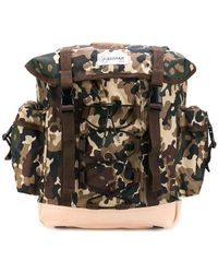 A.P.C. - Camouflage Print Backpack - Lyst