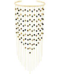 Ivi - 'dalhia' Tiger Fringe Necklace - Lyst