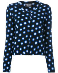 b8ad84592 Lyst - Moschino Sequin Embellished Cardigan in Black