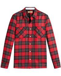 Burberry - Patch Pockets Tartan Shirt - Lyst