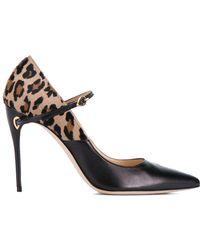 Jennifer Chamandi - Black Leopard Lorenzo 105 Heels - Lyst