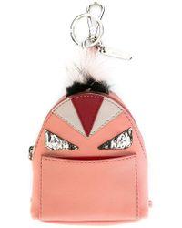 f3c3ff63d483 Fendi Studded Bag Bugs Backpack in Black - Lyst