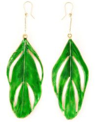 Aurelie Bidermann - 'swan' Feather Earrings - Lyst
