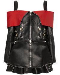 Alexander McQueen - Stud Embellished Off The Shoulder Leather Jacket - Lyst