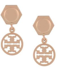 Tory Burch - Logo Drop Earrings - Lyst