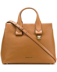 aefd363cd791c MICHAEL Michael Kors Small  smythe  Tote in Natural - Lyst