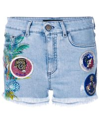 Mr & Mrs Italy - Patched Denim Shorts - Lyst
