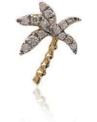 Yvonne Léon - Metallic Palm Tree 18k Gold Diamond Earring - Lyst