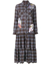 Katya Dobryakova - Checked Shirt Dress - Lyst