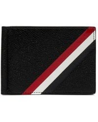 Thom Browne - Money Clip Leather Wallet - Lyst
