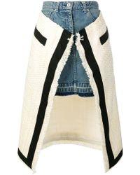 Sacai - Asymmetric Denim Skirt - Lyst