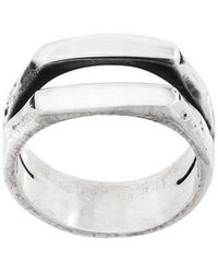 Henson - Carved Double Stacker Ring - Lyst