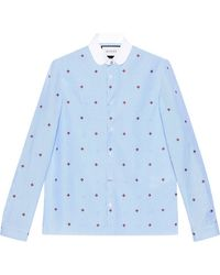 Gucci - Bee Fil Coupé Cambridge Shirt - Lyst