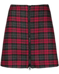 Ultrachic - Checked Zip Front Skirt - Lyst