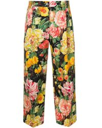 Dolce & Gabbana - Floral Cropped Trousers - Lyst