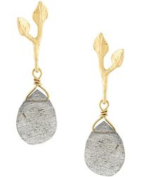 Wouters & Hendrix - My Favourite Labradorite Earrings - Lyst
