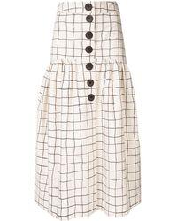 WHIT Grid Print Skirt
