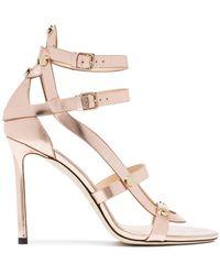 2b62afa32831 Jimmy Choo - Pink Motoko 100 Leather Sandals - Lyst