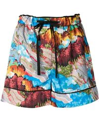 Victoria, Victoria Beckham Patterned Shorts