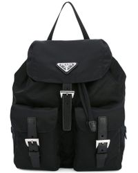 8f11eddd6ea2cf Prada - Black Robot Studded Leather Backpack - Lyst