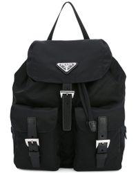 e24892cdda6e Prada - Black Robot Studded Leather Backpack - Lyst