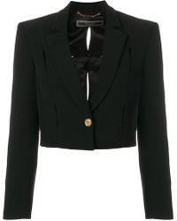 Versace - Cropped Tuxedo Jacket - Lyst