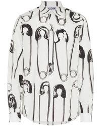 Moschino - Pin Print Shirt - Lyst