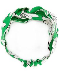 Valentino - Floral Printed Headband - Lyst