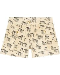 Gucci - Invite Stamp Denim Shorts - Lyst
