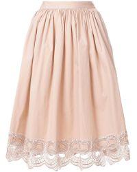 Blumarine | Decorative Trim Midi Skirt | Lyst