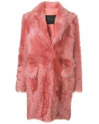 Blancha - Buttoned Fur Coat - Lyst