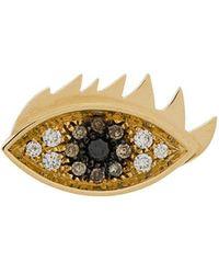 Delfina Delettrez - 18kt Yellow Gold Eyes On Me Stud Earring - Lyst