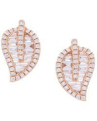 Anita Ko - Leaf Studded Earrings - Lyst