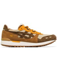 Asics - Brown Lyte Ymc Suede Trainers - Lyst