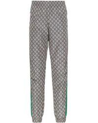 Gucci - GG Supreme Print Web Sweat Pants - Lyst