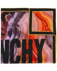 Givenchy - Logo Flame Mineral Print Scarf - Lyst