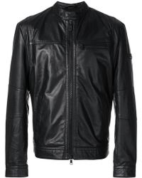 Peuterey - Zipped Biker Jacket - Lyst