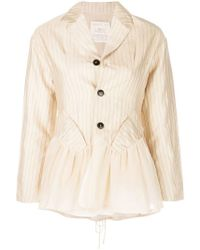 Renli Su - Rear Lace-up Fitted Jacket - Lyst