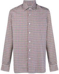Kiton - Plaid Button Shirt - Lyst