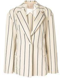 Erika Cavallini Semi Couture | Striped Blazer | Lyst
