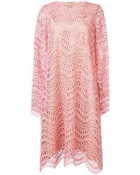 Oscar de la Renta - Long-sleeve Cocoon Dress - Lyst